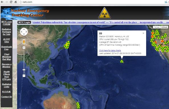 Ausztrália és Hawaii is sugárfertőzott.