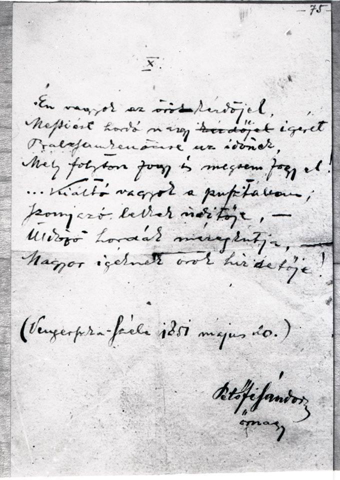 Petöfi kézirat