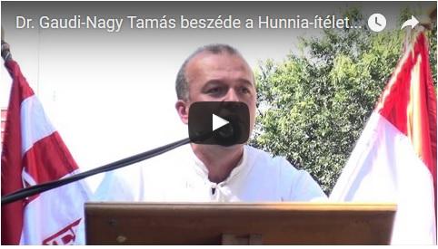 Dr. Gaudi-Nagy Tamás beszéde
