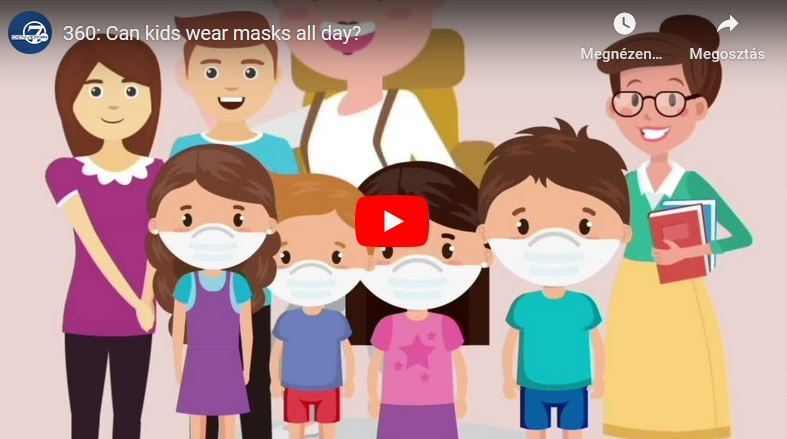 Can kids wear masks all day?